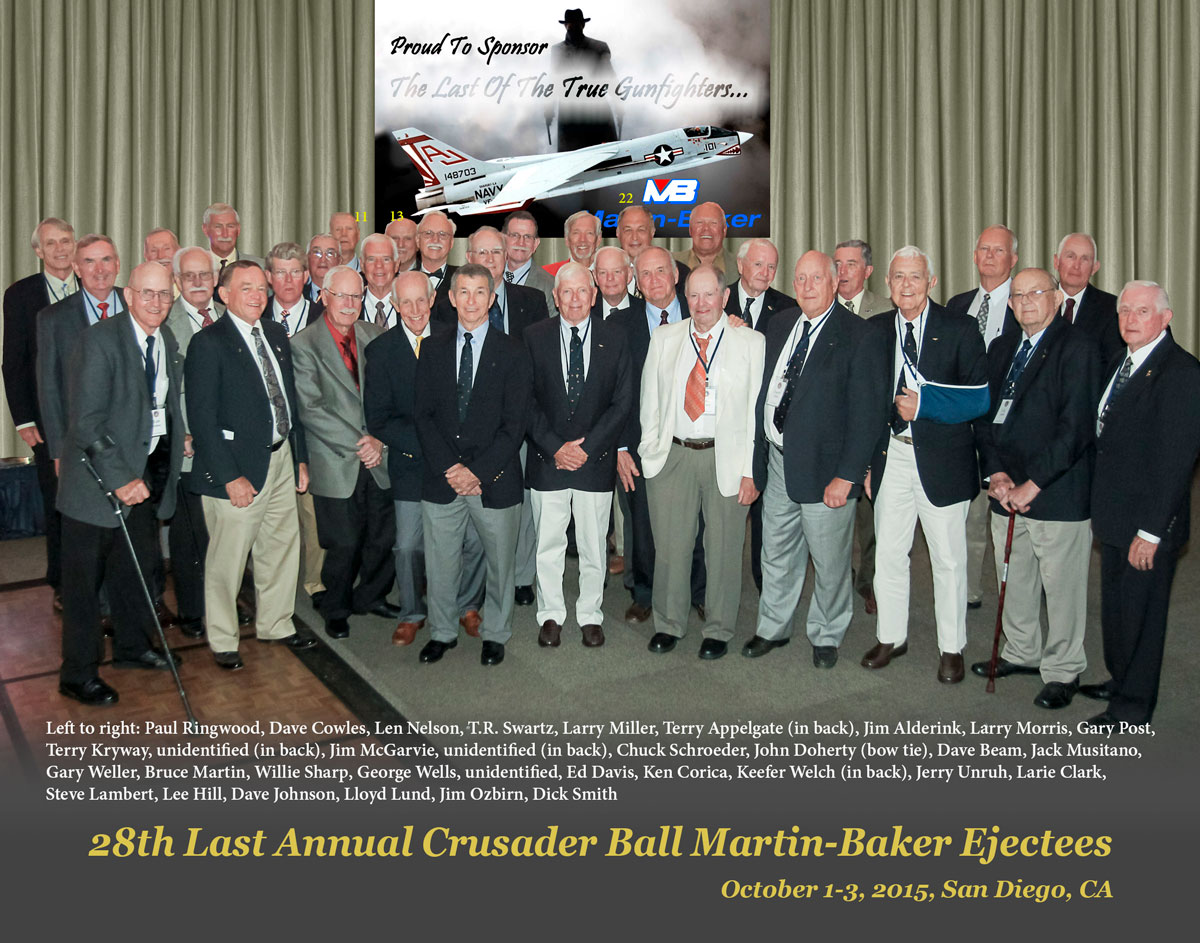 A photograph of all of the LCAB28 attendees who ejected from the F8 Crusader