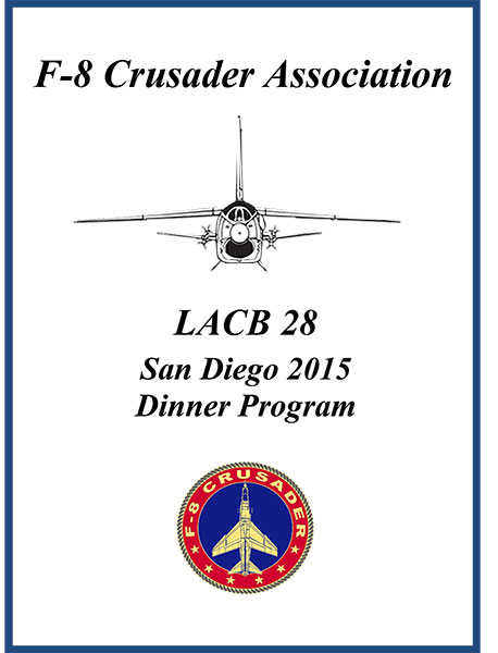 Front cover of LACB28 dinner program